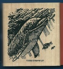 DOLPHIN DIVING FISH Scene OCEAN WILDLIFE SEA LIFE new STAMPIN' UP! RUBBER STAMP