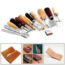 Leather Craft Tools Kit Thread Awl Trimming Hole Punch LeatherCraft Tools Set