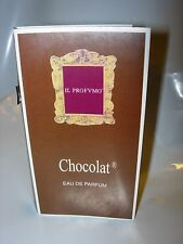 WOMENS MENS NEW IL PROFVMO PROFUMO CHOCOLAT CHOCOLATE 2 ml VIAL PERFUME EDP