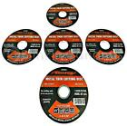 """5 X 4.5"""" 115MM ANGLE GRINDER CUTTER THIN STEEL METAL CUTTING BLADE DISCS DISKS"""