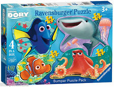 RAVENSBURGER FINDING DORY 06858 PACK 4 PUZZLES SILUETA BUSCANDO A DORY Disney