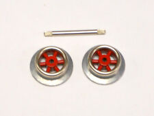 257R Red Spoke Wheels and Axle Set for Lionel O Gauge Lead/Trailing Trucks