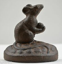 """Mouse Design Cast Iron Door Stop Wedge Jam Home Decor Accent Collectible 3.5"""""""