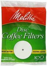 (24 Pack) Melitta Coffee Filters for Percolators White 3.5-Inch 100-Count