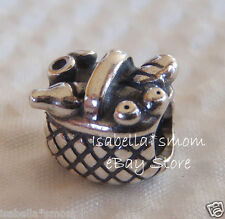 New RETIRED Authentic PANDORA Silver PICNIC BASKET Charm~Bead 925 ALE 790418