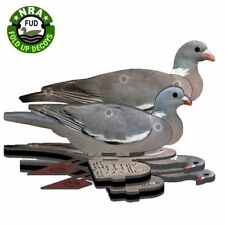 6 x FUD Folding Pigeon Decoys Shooting Decoying - NEW IMPROVED VERSION
