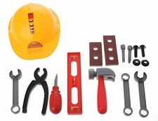 13PC Kids Builder Construction Tools Set Hardhat Role play Hammer Nut Bolt Build