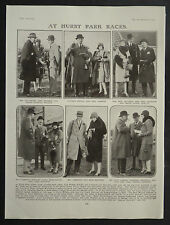 Hurst Park Racecourse Moulsey Hurst West Molesey 1928 Page Photo Article
