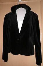 BLACK VELVET JACKET ELEGANTIA MADE IN ITALY MEDIUM? LONG SLEEVE  1 BUTTON LINED