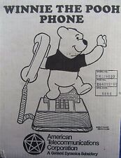 Vintage 1976 Disney Winnie The Pooh Push Button Phone - In Box - RARE