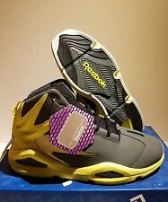 NEW REEBOK BLAST GREY AND YELLOW SIZE 8 WITH BOX 100% AUTHENTIC RARE