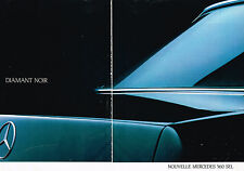 PUBLICITE ADVERTISING 114  1986  MERCEDES-BENZ 560 SEL ( 2p)  DIAMANT NOIR