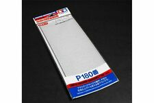 TAMIYA 87092 Papier Abrasif P180 - Finishing Abrasives P180 - 3 sheets