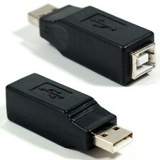 USB A Male to Type B Female Printer Cable Converter Adapter - 2.0 Laptop Scanner