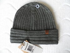 TIMBERLAND RIB CHARCOAL Wool / Acrylic BEANIE Toque OSFA Hat NEW WITH TAGS