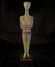 Cycladic figurine Female Great Bronze marble based sculpture statue artifact