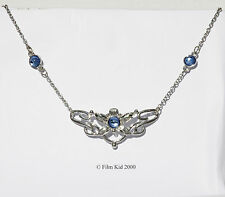 EOWYN ROHAN SILVER FLOWER PENDANT NECKLACE LORD OF THE RINGS ROHAN LOTR HOBBIT