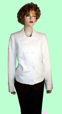 ANNE KLEIN White Solid Long Sleeve Women's Size 8 Basic Coat Msrp  $169.00