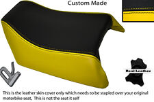 BLACK & YELLOW CUSTOM FITS SUZUKI GSXR 1100 89-98 REAR SEAT COVER