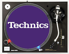 TECHNICS CLASSIC WHITE ON PURPLE - DJ SLIPMATS (1 PAIR) 1200's or any turntable
