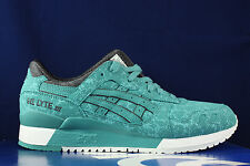 ASICS GEL LYTE III 3 KING FISHER GREEN AQUA BLUE BLACK H6U2Y 4848 SZ 13