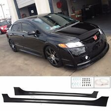 Fit 06-08 09-11 Honda Civic Side Skirt Sedan Mug RR PP Material 4DR