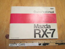 1981 MAZDA RX-7 FACTORY OEM OWNER'S MANUAL - OUT OF PRINT - STOCK#2