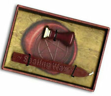 Wiccan Pentacle Wax Seal Stamp with Red Wax for Wicca Witch Book of Shadows