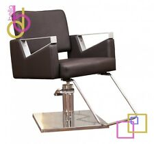 The Element Modern Spa HairSalon Styling Chair with Hydraulic Chrome Pump- BROWN