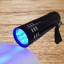 Mini aluminium UV Ultra Violet 9 lampe de poche LED Blacklight Torch Lampe #A EH