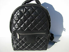 Auth Chanel Black Coco Cocoon Quilted Nylon Backpack Shw Mint