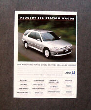 [GCG] I717- Advertising Pubblicità - 2000 - PEUGEOT 306 STATION WAGON