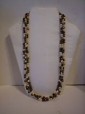 """South Sun"" Three Strand Multi Color Beaded Necklace - 925"