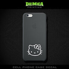 Hello Kitty - Cell Phone Vinyl Decal Sticker - iPhone - Choose Color (X2)