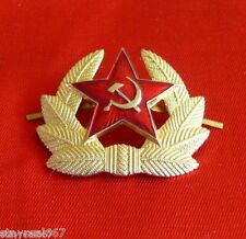 Authentic Soviet Military Uniform Red Star Hat Badge Cockade Sickle & Hammer