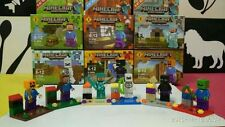 6 pcs per lot with 6 boxes Minecraft Enderman Steve Mini Figures Toys Games