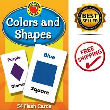 Colors and Shapes Flash Cards Brighter Child Kid Card Learning Educational Color