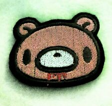 Gloomy Bear head bloody embroidered iron on patch 75mm