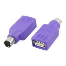 USB Type-A Female to PS/2 (Keyboard/Mouse) Male Purple Passive Adapter, AD-UP4