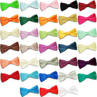 NEW DQT PLAIN BOYS WEDDING BOW TIE