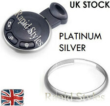 SILVER Chrome Key Fob Trim Ring Rim Mini Cooper 2008 2009 2010 2011 2012 2013 ps
