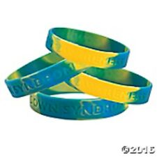 Down Syndrome Awareness Silicone Bracelets Set of 12 Down Syndrome Awareness