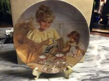 "Collector's Plate Modern Masters ""Cora's Tea Party"" by Richard Zolan"