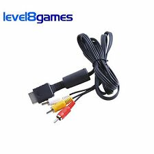 6FT AV Audio/Video Composite Cable - Sony Playstation PS1 PS2 PS3 Super Slim NEW