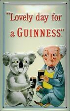 Guiness Koala Embossed 3D Metal Pub Bar Irish Licensed Sign Vintage Retro Plaque