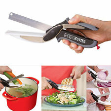 Multifunctional Knife Clever Cutter 2-in-1 Cutting Board Scissors As Seen On TV
