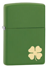 Zippo Lighter: Four Leaf Clover - Green Matte 21032