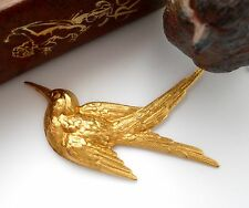 BRASS Large Sparrow Bird Stamping ~ Ornament Finding (FA-6031) `