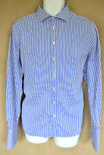 "JAEGER ""Classic"" Blue & white striped shirt SIZE 17"" collar"