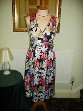 Laura Lees for Topshop size M Navy Floral Tea Style Dress £45 BNWOT Embroidery